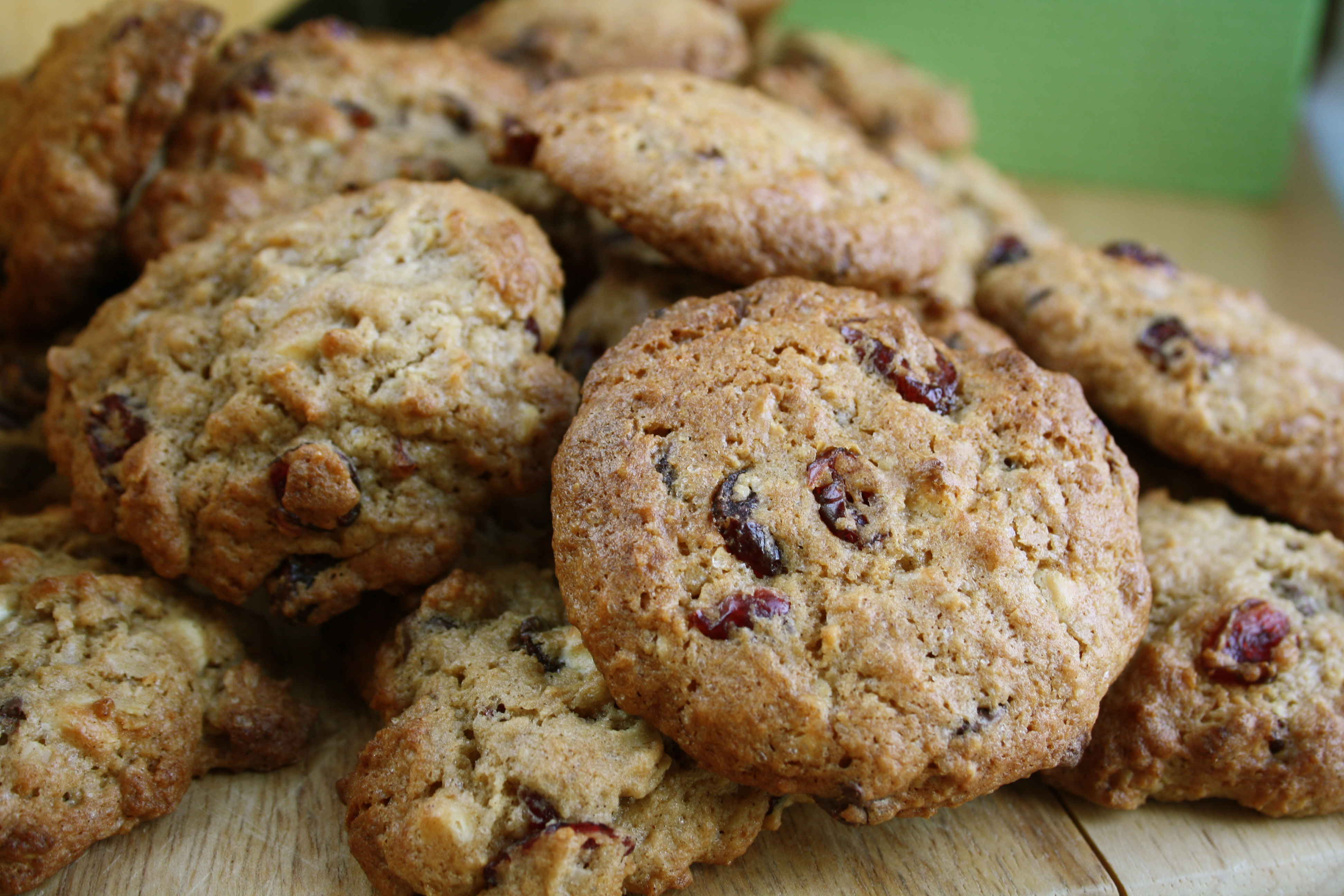Gluten Free Cranberry Chocolate Oatmeal Cookies