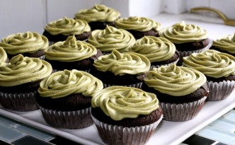 Chocolate Green Tea Gluten Free Cupcakes
