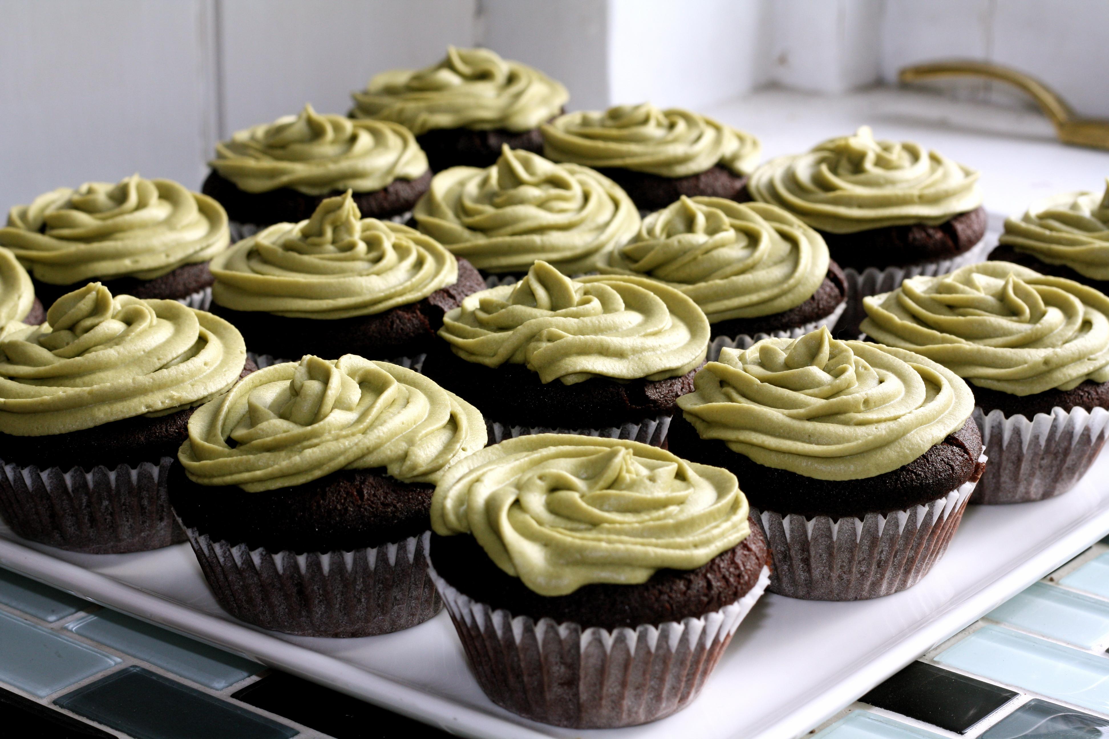 Chocolate Green Tea Gluten Free Cupcakes