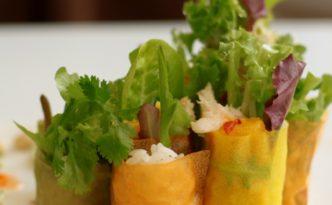Gluten Free Mango Crab Roll