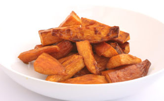 Maple Balsamic Sweet Potato Wedges