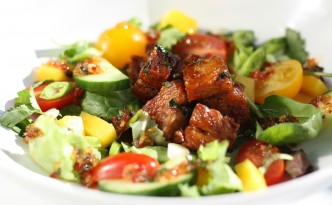 Gluten Free Sticky Pork Belly Salad