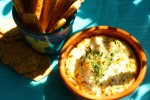 Baked Goat Cheese Dip with Gluten Free Toasties