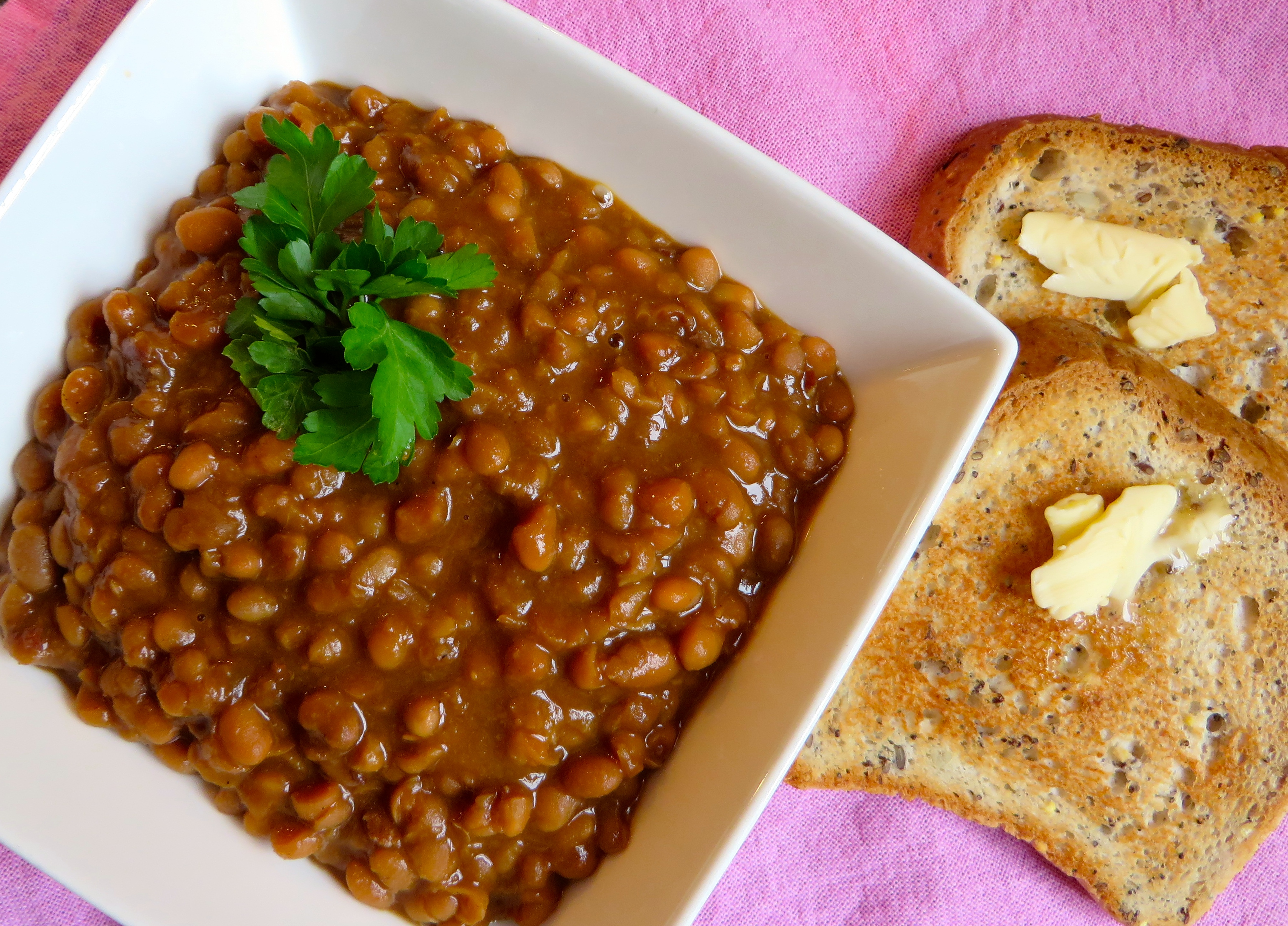 Homemade Baked Beans with Bacon Gluten Free